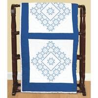 """Stamped White Quilt Blocks 18""""X18"""" 6/Pkg-Xx Star"""