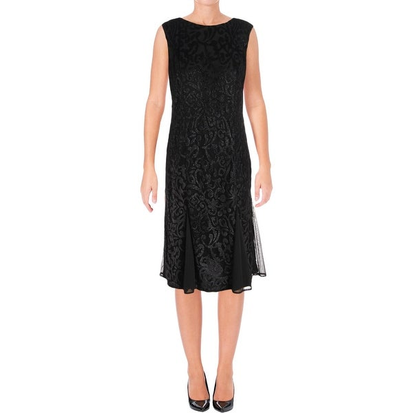 R & M Richards Womens Semi-Formal Dress Sleeveless Mid-Calf