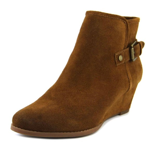 Franco Sarto Wichita Women Round Toe Leather Brown Ankle Boot