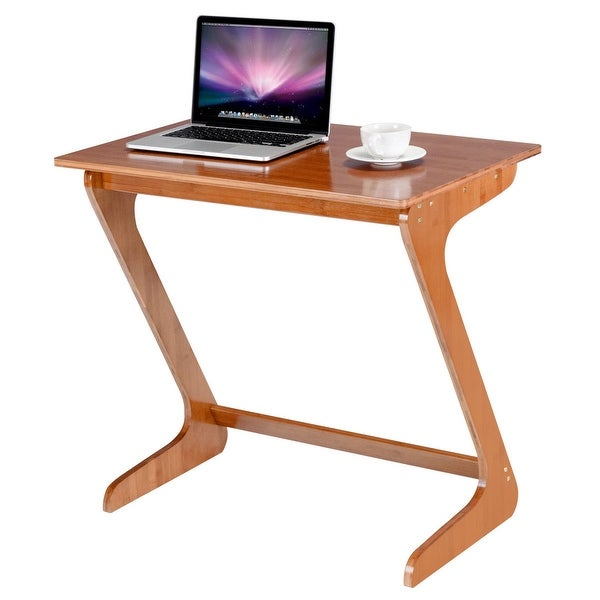 Gymax Bamboo Sofa Table Tv Tray Laptop Desk Coffee End Bed Side Snack
