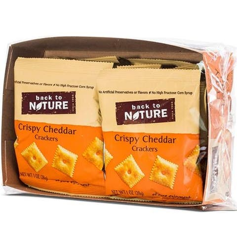 Back To Nature - Grab And Go Crispy Cheddar Crackers ( 100 - 1 OZ)
