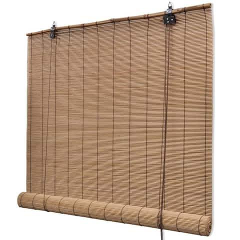 """vidaXL Brown Bamboo Roller Blinds 39.4"""" x 63"""""""