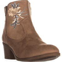 Rock & Candy Loraina Western Ankle Boots, Sand