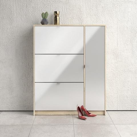 Porch & Den Cambria 3-Drawer Shoe Cabinet with Door