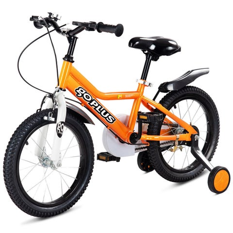 Goplus 12'' Kids Bicycle Outdoor Sports Bike W/ Training Wheel Brakes Boys Girls Cycling