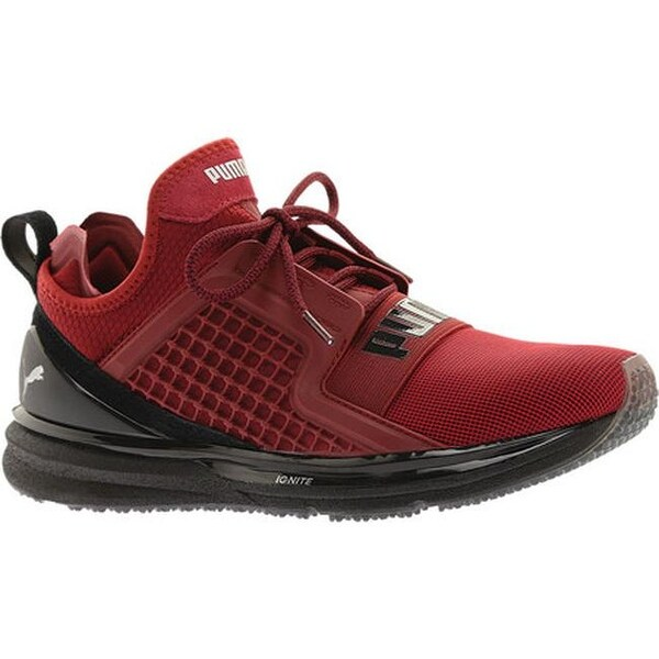 PUMA Men  x27 s IGNITE Limitless Training Shoe Tibetan Red Puma Black ecbe1de6c
