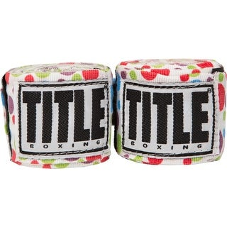 "Title Boxing 180"" Semi Elastic Mexican Handwraps - Polka Dot"