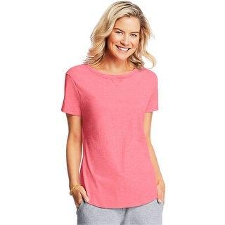 Hanes X-Temp® Women's V-Notch Tee - Size - M - Color - Neon Pinkpop Heather
