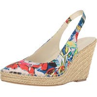 Anne Klein Womens Varya Fabric Almond Toe Special Occasion Espadrille Sandals