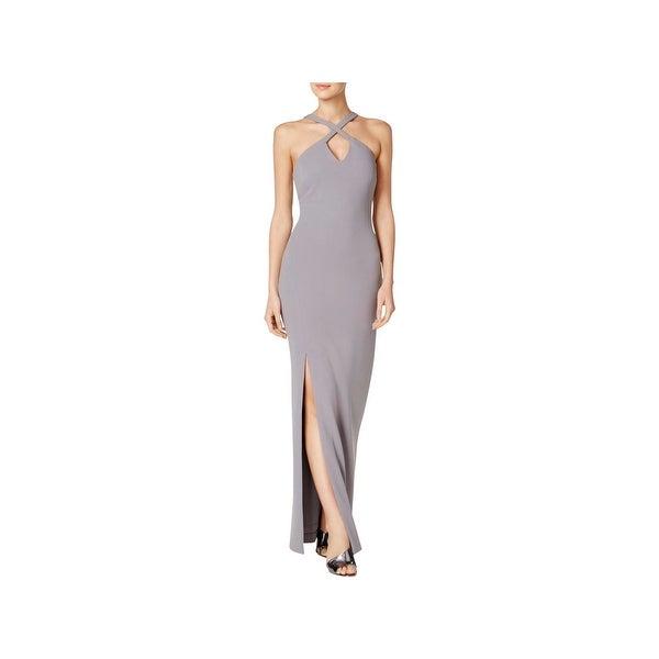 Calvin Klein Womens Evening Dress Criss Cross Front Sleeveless