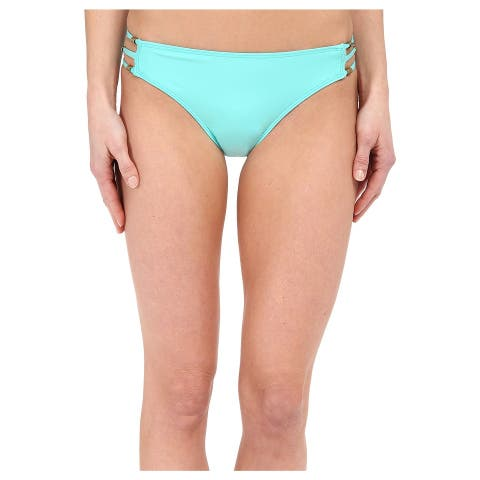 Ella Moss Green Womens Size XS Side-Strap Swimwear Bikini Bottom