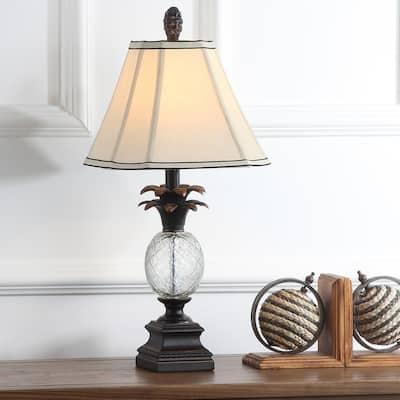 "SAFAVIEH Lighting 24-inch Antiqued Bronze Pineapple Table Lamp (Set of 2) - 11""x11""x24"""