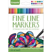 Crayola Aged Up Fine Line Markers, Assorted Vibrant Colors, Set of 12