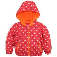 Pink Platinum Toddler Girls Polka Dot Active Hooded Jacket Spring Coat
