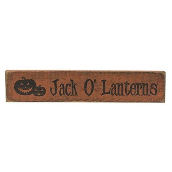 """Jack O'Lanterns Sign Burnt Orange 3.5""""x18"""""""