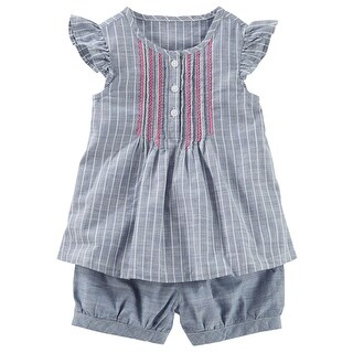 OshKosh B'gosh Little Girls' Striped Sun Set, 5-Toddler - Blue