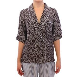 Dolce & Gabbana Multicolor PAJAMA Silk Blouse Top Shirt