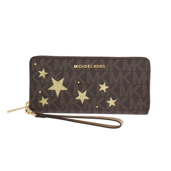 Michael kors Brown ILLUSTRATIONS Travel Continental Wallet - One size