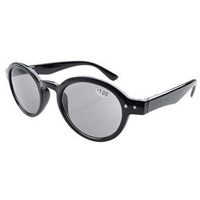 Eyekepper Spring Hinges Round Retro Reading Sunglasses Grey Lens +1.50