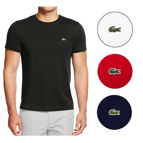 Lacoste Men's Pima Cotton Short Sleeve Crew Neck Athletic T-Shirt