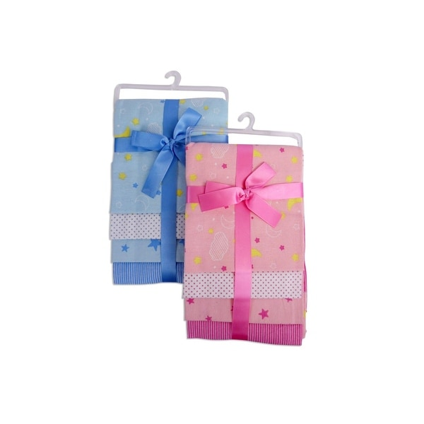 Bambini Baby Printed Four Pack Receiving Blanket