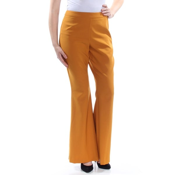 9444c3c59eccb INC Womens Gold Darted Flare Cocktail Pants Size: 8