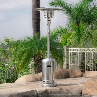 Belleze 48,000BTU Premium Patio Propane Heater, CSA Certified, Stainless Steel