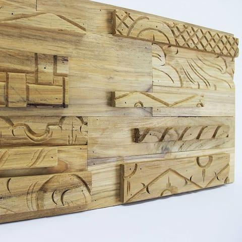 TEAK ART CRAFT Wall Paneling, 100% reclaimed teak, 15.50 sq.feet per box, FREE shipping FSC, Carb2 compliant, LEED points