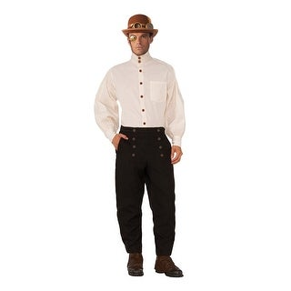 Steampunk Beige Long Sleeve Adult Costume Shirt