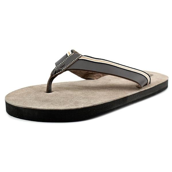 29 Porter Rd Hayden Men Open Toe Leather Brown Thong Sandal