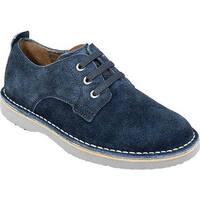 Florsheim Boys' Navigator Plain Toe Oxford Jr. Navy Leather