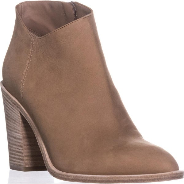 VINCE Easton Side Zip Ankle Booties, Sand Leather - 8 us / 38 eu