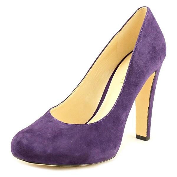 Nine West Brielyn Women Round Toe Suede Purple Heels