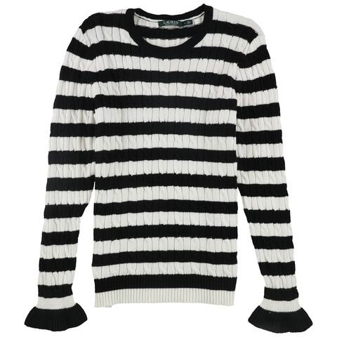Ralph Lauren Womens Striped Pullover Sweater, Multicoloured, Large