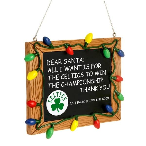 NBA Boston Celtics Chalkboard Holiday Christmas Ornament