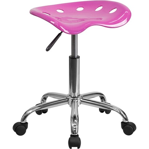 Brittany Candy Heart Tractor Seat & Chrome Multipurpose Stool