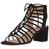 Pour La Victoire Womens Amabelle Suede Open Toe Casual Strappy Sandals