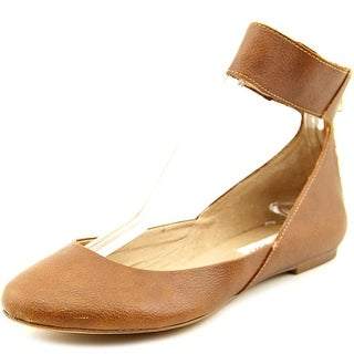 Steve Madden Kristy Women Round Toe Synthetic Brown Flats