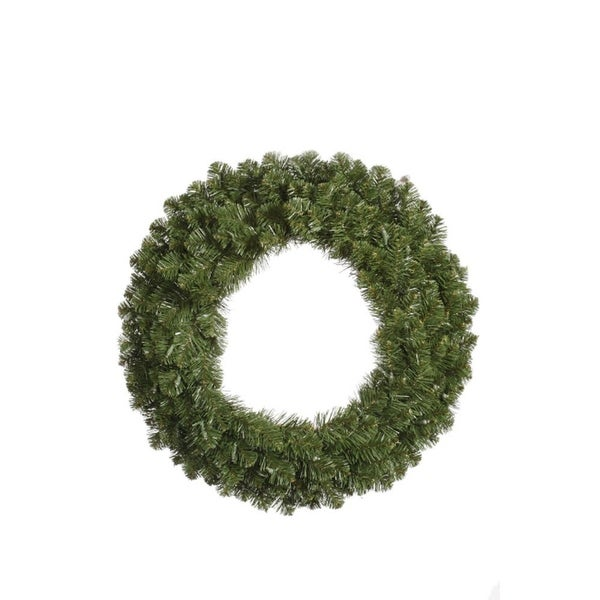 5' Grand Teton Commercial Artificial Christmas Wreath - Unlit - green