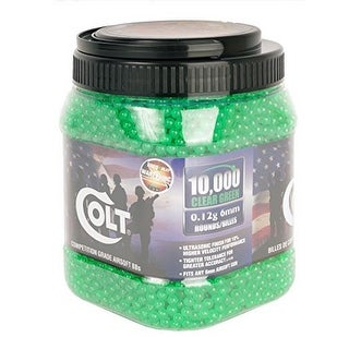 Colt Ultrasonic Competition Grade Airsoft-Bbs, Green, 10K - Green