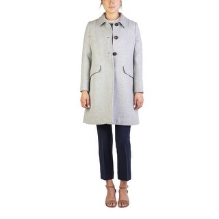 Miu Miu Women's Virgin Wool Three-Button Trench Coat Grey - 46
