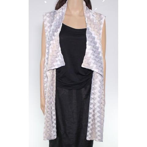 Erin London Women Sweater Blue Size 3X Plus Textured Fly Away Cardigan