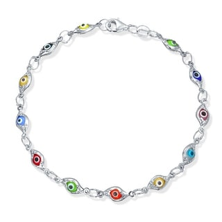 Link to Turkish Evil Eye Glass Bead Bracelet Protection 925 Sterling Silver Similar Items in Bracelets