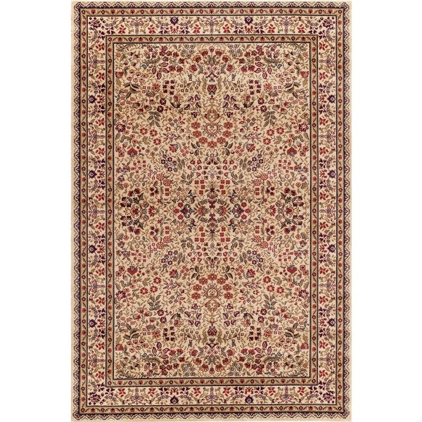 Concord Global Jewel Sarah Ivory Rug - 6'7 x 9'1. Opens flyout.
