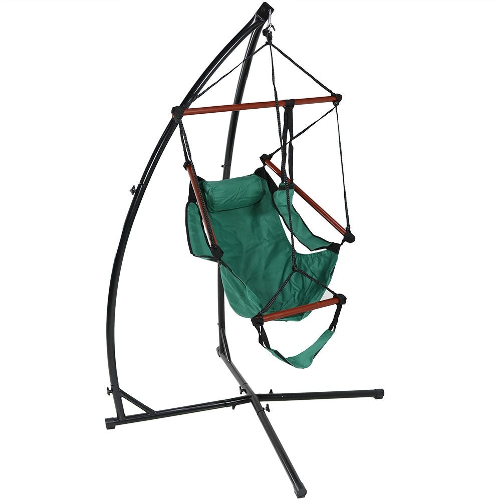 Sunnydaze Durable X-Stand and Hanging Hammock Chair Set or X-Chair Stand ONLY - You Choose - Thumbnail 28
