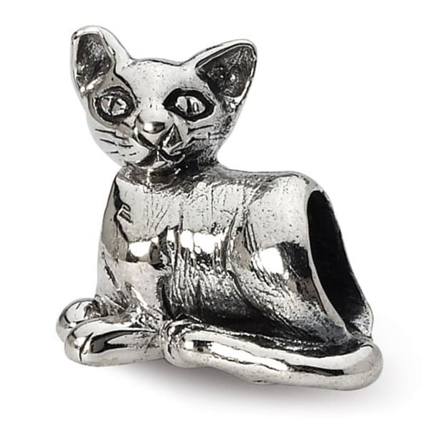 Sterling Silver Reflections Sphinx Cat Bead (4mm Diameter Hole)