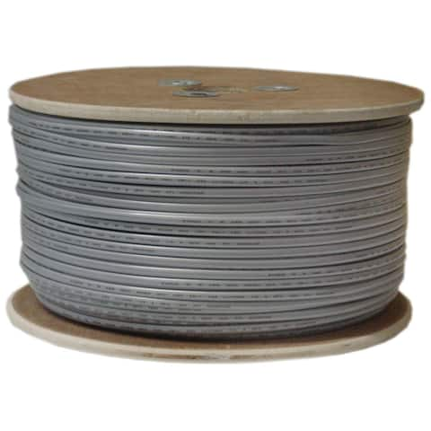 Offex Bulk Phone Cord, Silver Satin, 26/8 (26 AWG 8 Conductor), UL, CSA, Spool, 1000 foot