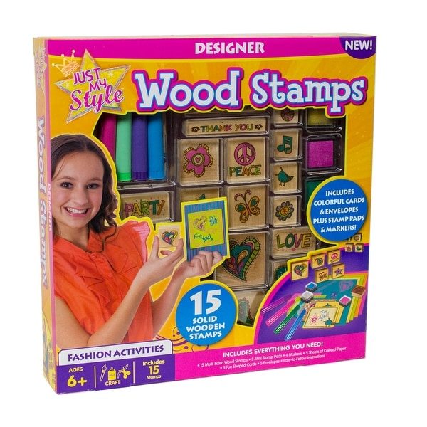 Just My Style Wood Stamps - multi-color - 12.0 in. x 2.0 in. x 12.0 in.