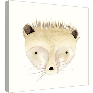 """PTM Images 9-99053  PTM Canvas Collection 12"""" x 12"""" - """"Hedgehog Watercolor Face"""" Giclee Hedgehogs Art Print on Canvas"""