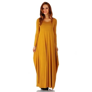 Simply Ravishing Maxi Boho Harem Long Sleeve Dress (Size: S-5X)